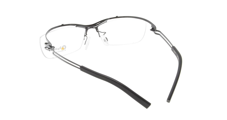 オンビート ONB-405H-Q01B Gray-Silver Gradation/Black [メタル/鯖江産/ハーフリム/スクエア]  2
