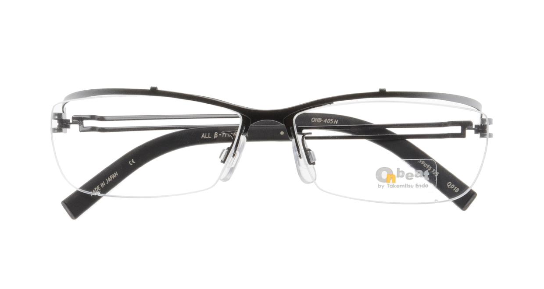 オンビート ONB-405H-Q01B Gray-Silver Gradation/Black [メタル/鯖江産/ハーフリム/スクエア]  3
