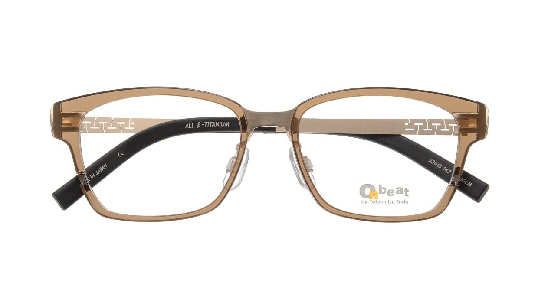 オンビート ONB-704H-06GLM Gold Mat/Clear Brown06 [鯖江産/ウェリントン/茶色]  3