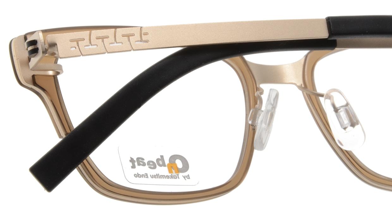 オンビート ONB-704H-06GLM Gold Mat/Clear Brown06 [鯖江産/ウェリントン/茶色]  4
