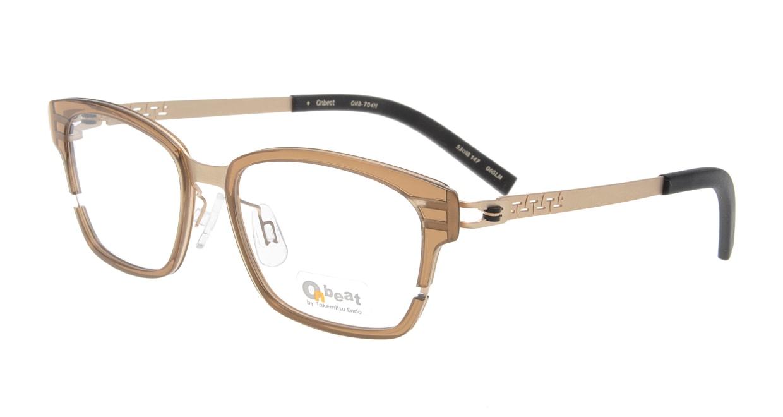 オンビート ONB-704H-06GLM Gold Mat/Clear Brown06 [鯖江産/ウェリントン/茶色]