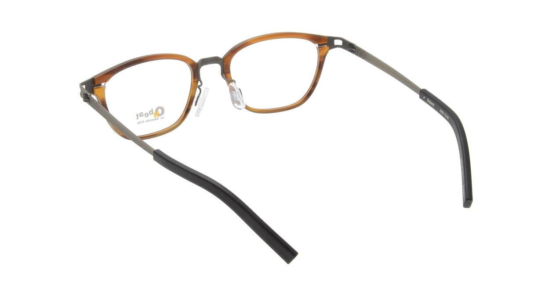 オンビート ONB-710H-04BRA Antique Brown/Dark Brown04 [鯖江産/ウェリントン/茶色]  2