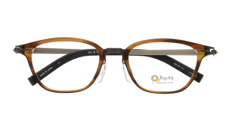 オンビート ONB-710H-04BRA Antique Brown/Dark Brown04 [鯖江産/ウェリントン/茶色]  3