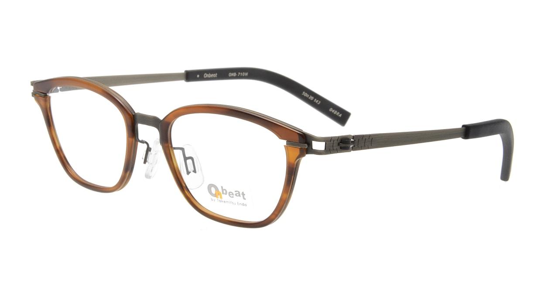 オンビート ONB-710H-04BRA Antique Brown/Dark Brown04 [鯖江産/ウェリントン/茶色]