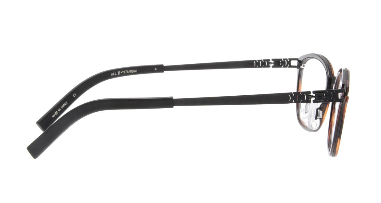オンビート ONB-710H-12BK Black/Wine12 [鯖江産/ウェリントン/べっ甲柄]  1