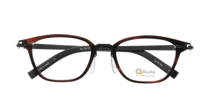 オンビート ONB-710H-12BK Black/Wine12 [鯖江産/ウェリントン/べっ甲柄]  3
