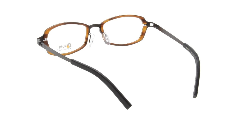 オンビート ONB-711H-04DBR Dark Brown/Dark Brown04 [鯖江産/スクエア/茶色]  2