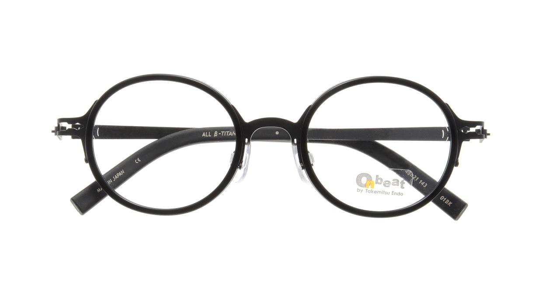 オンビート ONB-713H-01BK Black/Black01 [黒縁/鯖江産/丸メガネ]  3