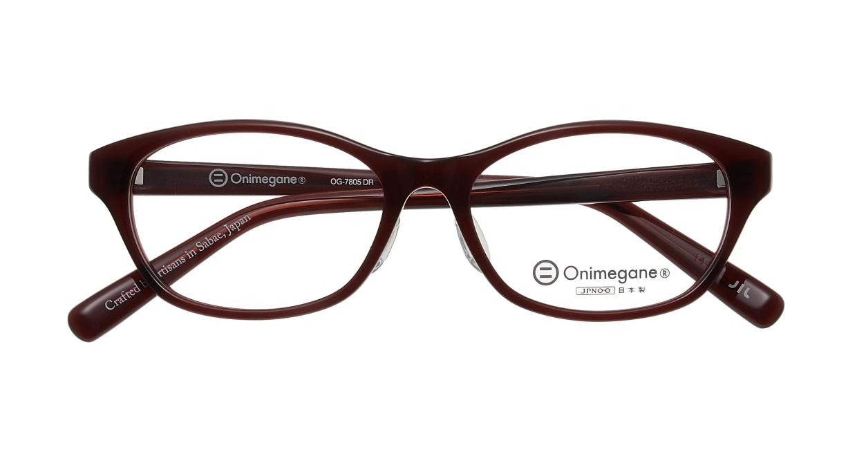 オニメガネ OG7805-DR [鯖江産/ウェリントン/赤]
