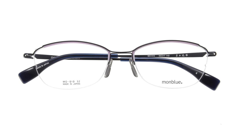モンブルー MO010-6 [メタル/鯖江産/ハーフリム/スクエア/青]  3