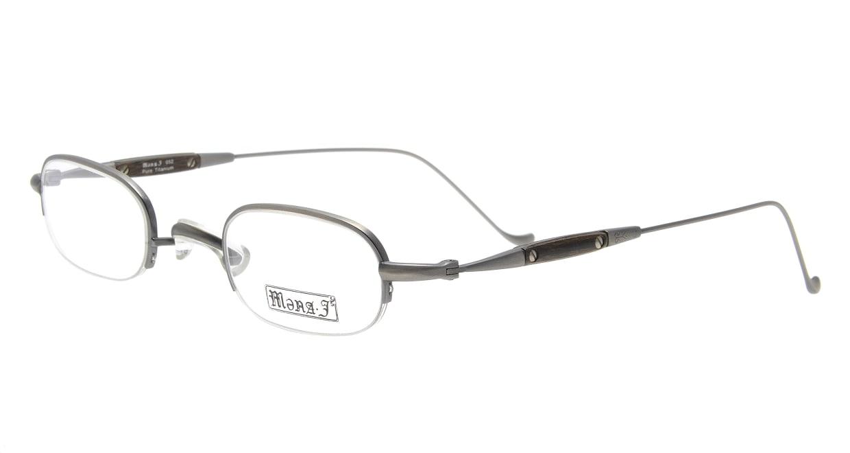メナジェイ M052-AS [メタル/鯖江産/ハーフリム/スクエア/グレー]