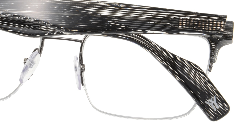 ヨウジヤマモト 19-0014-02 BLACK LINE [メタル/ハーフリム/ウェリントン]  4