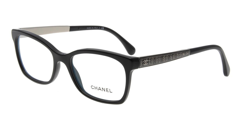 シャネル CH3332-C501-52 Black [黒縁/ウェリントン]