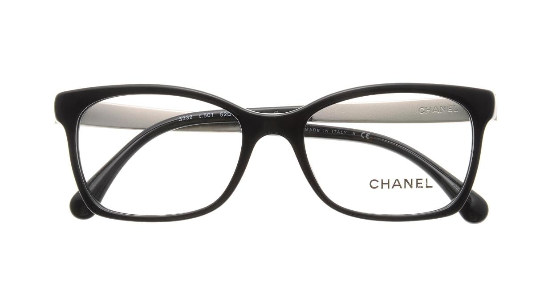 シャネル CH3332-C501-52 Black [黒縁/ウェリントン]  3