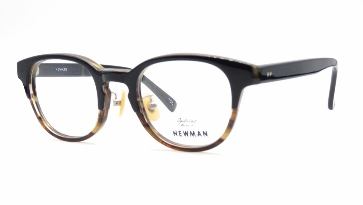 ニューマン HOWARD-C4 [黒縁/丸メガネ/安い]  1