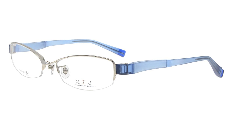 メイドインジャパン MIJ-733-03-53 [メタル/鯖江産/ハーフリム/スクエア/シルバー]