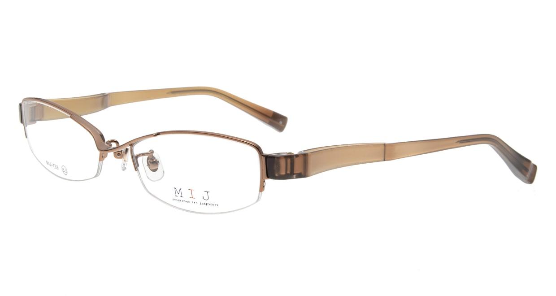 メイドインジャパン MIJ-733-02-53 [メタル/鯖江産/ハーフリム/スクエア/ピンク]