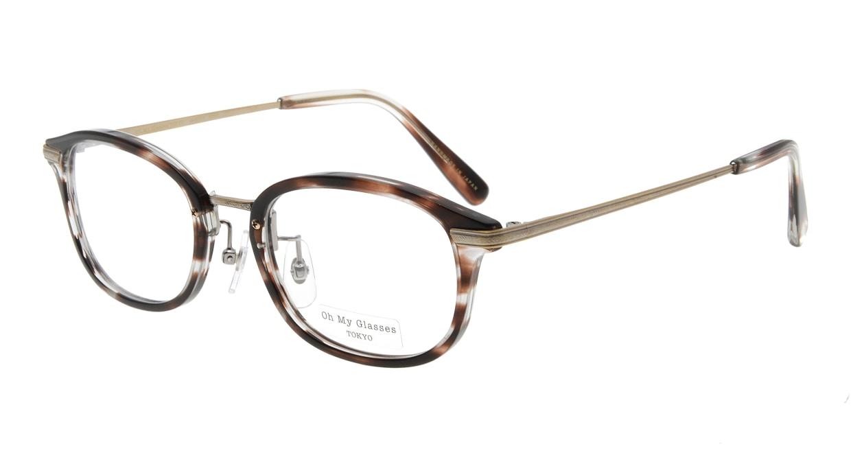 Oh My Glasses TOKYO Albert omg-071-18-12 [鯖江産/ウェリントン/べっ甲柄]