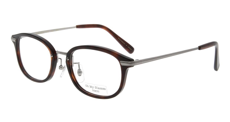 Oh My Glasses TOKYO Albert omg-071-59-12 [鯖江産/ウェリントン/茶色]