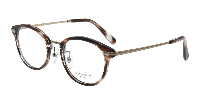 Oh My Glasses TOKYO Owen omg-072-18-12 [鯖江産/丸メガネ/べっ甲柄]