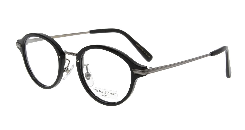 Oh My Glasses TOKYO Mickey omg-073-4-21 [黒縁/鯖江産/丸メガネ]