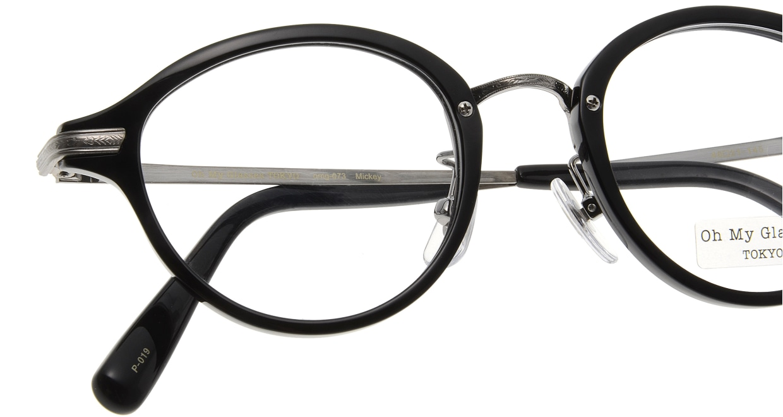 Oh My Glasses TOKYO Mickey omg-073-4-21 [黒縁/鯖江産/丸メガネ]  4
