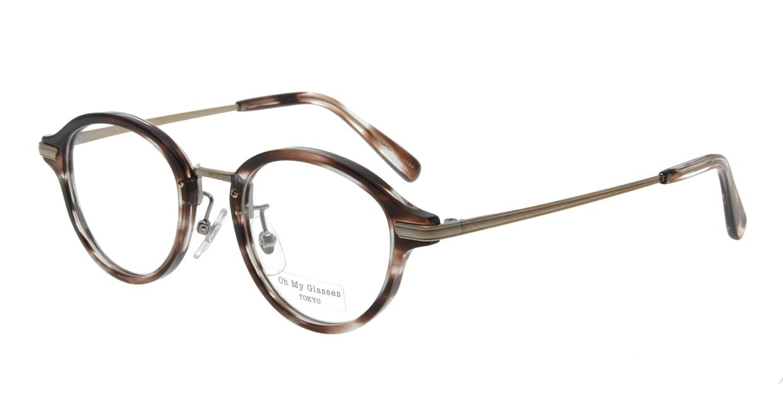 Oh My Glasses TOKYO Mickey omg-073-18-12 [鯖江産/丸メガネ/べっ甲柄]