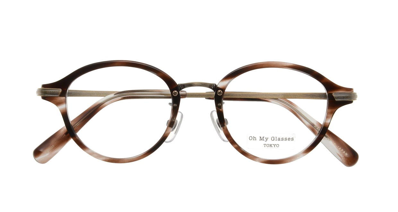 Oh My Glasses TOKYO Mickey omg-073-18-12 [鯖江産/丸メガネ/べっ甲柄]  3