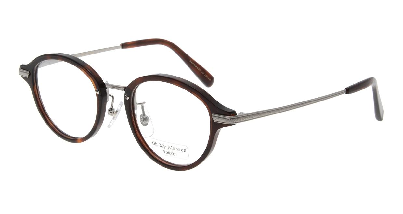 Oh My Glasses TOKYO Mickey omg-073-59-12 [鯖江産/丸メガネ/茶色]