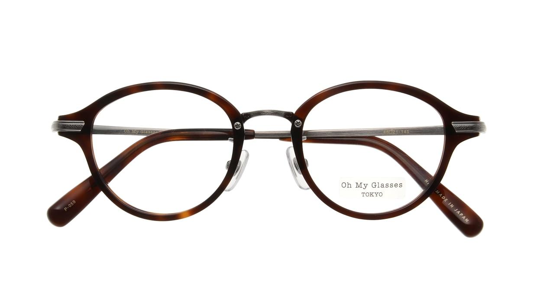 Oh My Glasses TOKYO Mickey omg-073-59-12 [鯖江産/丸メガネ/茶色]  3