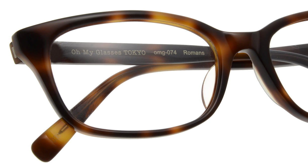 Oh My Glasses TOKYO Romans omg-074-030-53 [鯖江産/ウェリントン/べっ甲柄]  4