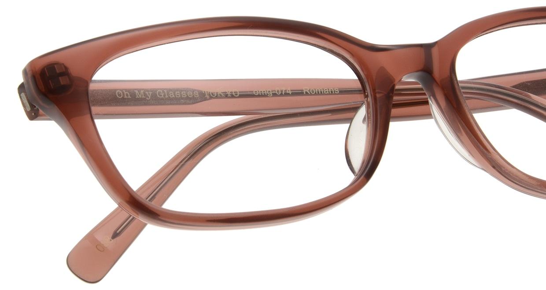 Oh My Glasses TOKYO Romans omg-074-088-53 [鯖江産/ウェリントン/茶色]  4