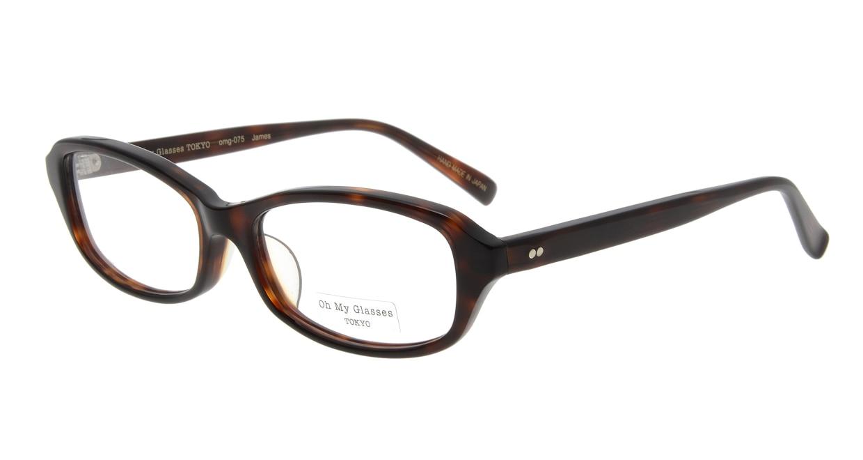 Oh My Glasses TOKYO James omg-075-050-52 [鯖江産/スクエア/べっ甲柄]
