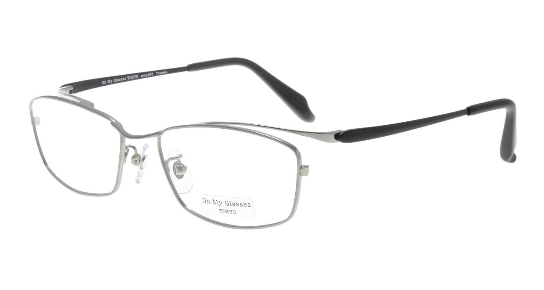 Oh My Glasses TOKYO Thomas omg-076-3-55 [メタル/鯖江産/ウェリントン/グレー]
