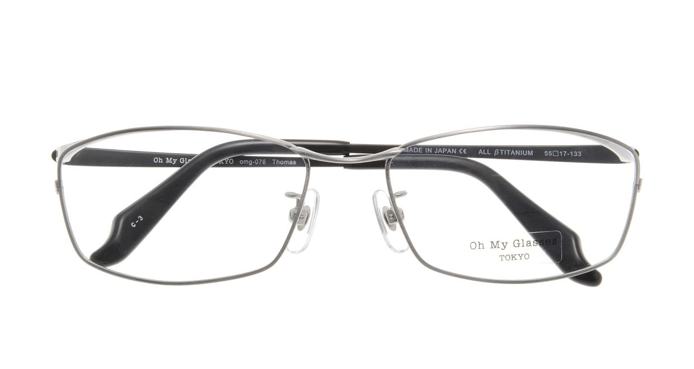 Oh My Glasses TOKYO Thomas omg-076-3-55 [メタル/鯖江産/ウェリントン/グレー]  3
