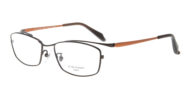 Oh My Glasses TOKYO Thomas omg-076-4-55 [メタル/鯖江産/ウェリントン/茶色]