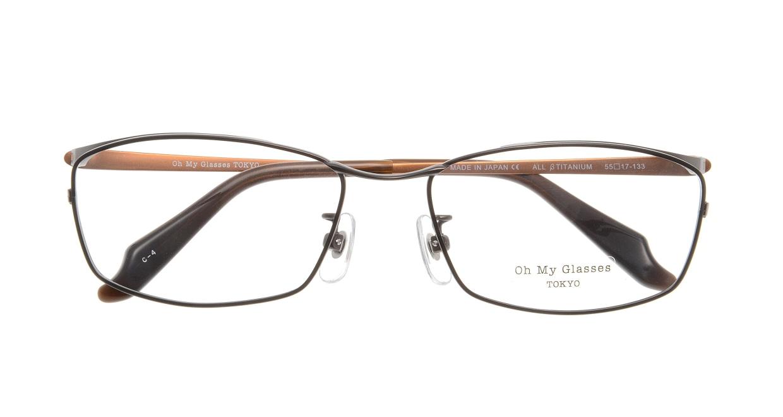 Oh My Glasses TOKYO Thomas omg-076-4-55 [メタル/鯖江産/ウェリントン/茶色]  3