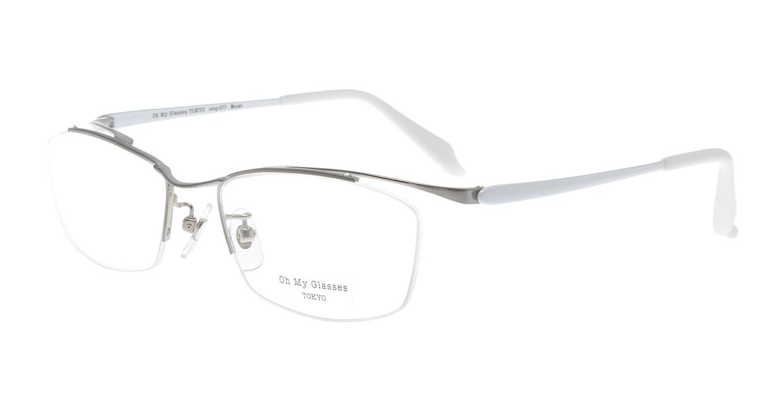 Oh My Glasses TOKYO Brian omg-077-6-55 [メタル/鯖江産/ハーフリム/スクエア/シルバー]
