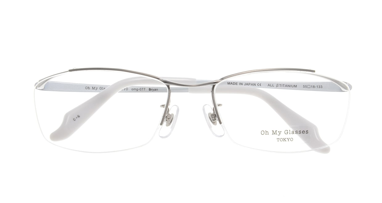 Oh My Glasses TOKYO Brian omg-077-6-55 [メタル/鯖江産/ハーフリム/スクエア/シルバー]  3