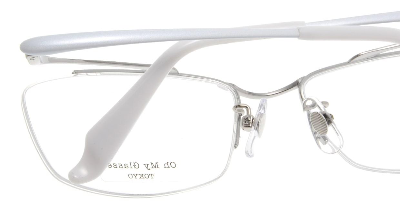 Oh My Glasses TOKYO Brian omg-077-6-55 [メタル/鯖江産/ハーフリム/スクエア/シルバー]  5