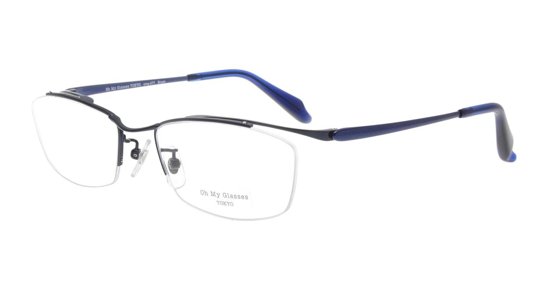 Oh My Glasses TOKYO Brian omg-077-7-55 [メタル/鯖江産/ハーフリム/スクエア/青]