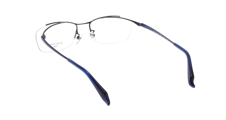 Oh My Glasses TOKYO Brian omg-077-7-55 [メタル/鯖江産/ハーフリム/スクエア/青]  2