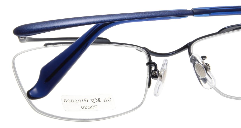 Oh My Glasses TOKYO Brian omg-077-7-55 [メタル/鯖江産/ハーフリム/スクエア/青]  5