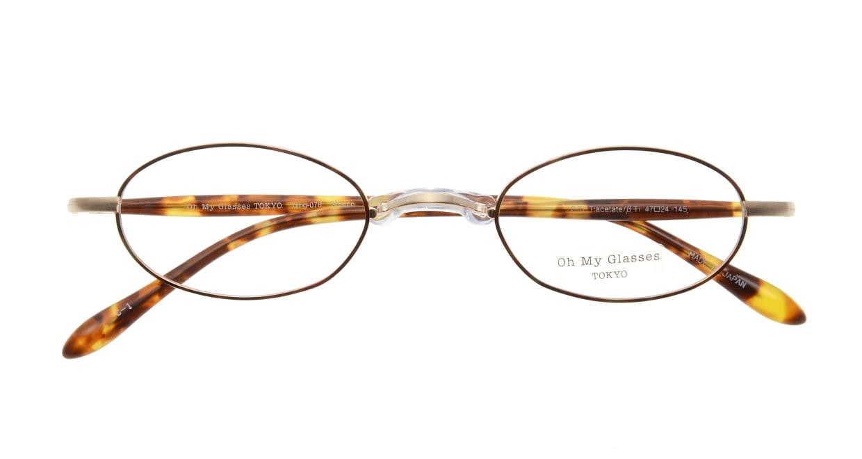 Oh My Glasses TOKYO Sharon omg-078-1-47 [メタル/鯖江産/オーバル/べっ甲柄]  3