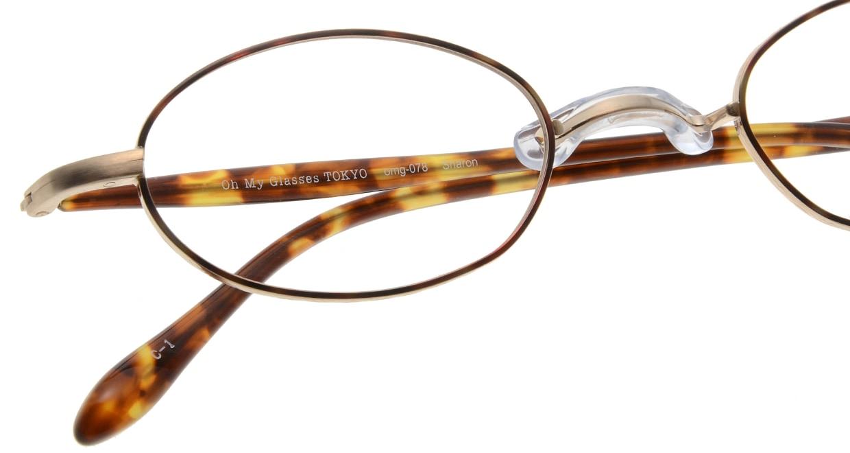 Oh My Glasses TOKYO Sharon omg-078-1-47 [メタル/鯖江産/オーバル/べっ甲柄]  4