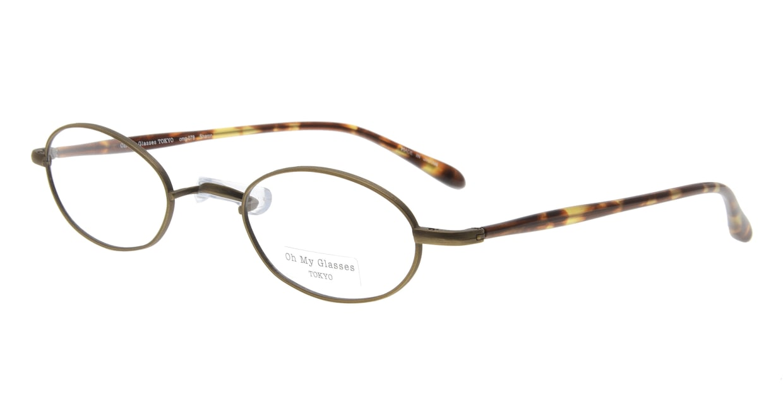 Oh My Glasses TOKYO Sharon omg-078-4-47 [メタル/鯖江産/オーバル/茶色]