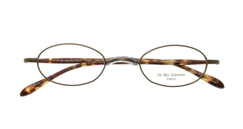 Oh My Glasses TOKYO Sharon omg-078-4-47 [メタル/鯖江産/オーバル/茶色]  3
