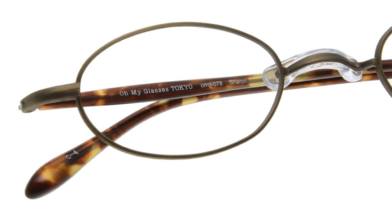 Oh My Glasses TOKYO Sharon omg-078-4-47 [メタル/鯖江産/オーバル/茶色]  4