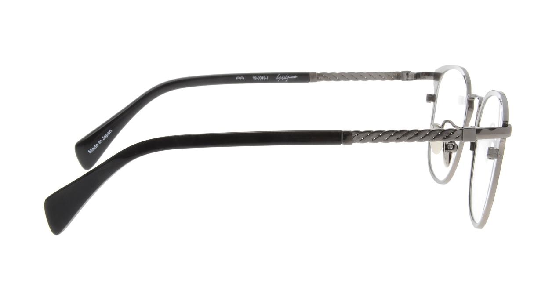 ヨウジヤマモト 19-0019-01 BK-M/GUN [メタル/鯖江産/ウェリントン]  1