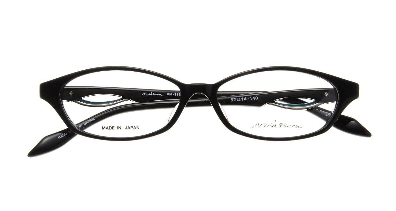ヴィヴィッドムーン VM-11804-040 [黒縁/鯖江産/オーバル]  3